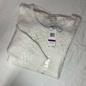 Jones New York Sweaters - Jones New York Sports White Knte XXL